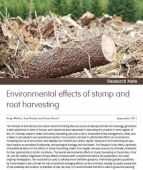Environmental effects of stump and root harvesting